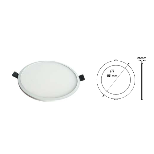 Ferrara LED Panel 16W Slim Χωνευτό IP40 Embedded Driver