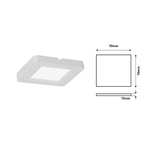 Ferrara LED Panel 2W Slim IP20 Τετράγωνο