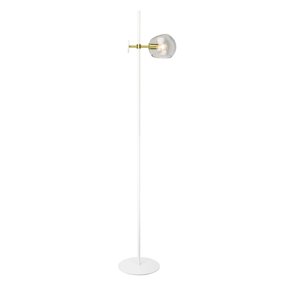 InLight Μονόφωτο Χρυσαφί Μεταλλικό Φωτιστικό Δαπέδου Με Διάφανο Γυαλί Ε14