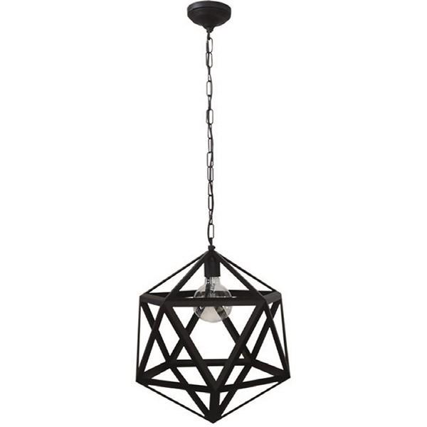 Heronia LED Κρεμαστό Φωτιστικό Μονόφωτο Polygono Chain E27