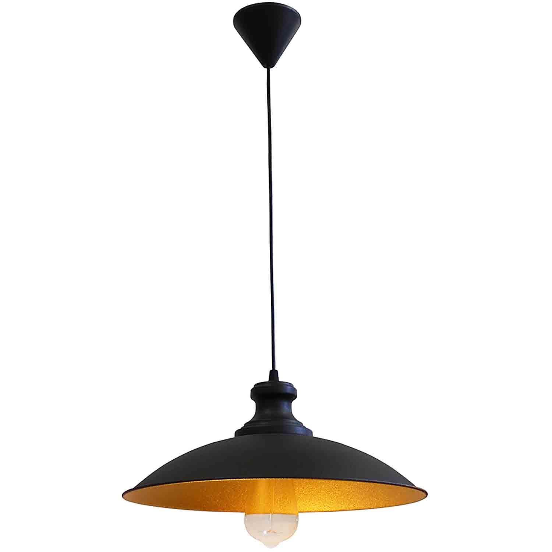 Heronia Κρεμαστό Φωτιστικό E27 LM-320 1L PENDEL BLACK-GL