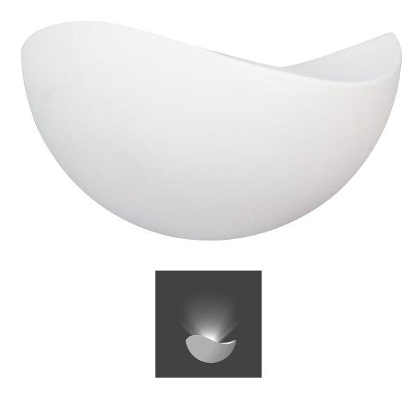 SL Απλίκα Τοίχου 7W IP20 COB Αλουµινίου Λευκή