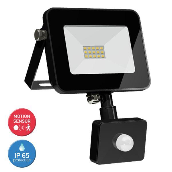 SL LED Προβολέας 10W Floodlight Tablet Λεπτός Motion Sensor IP65