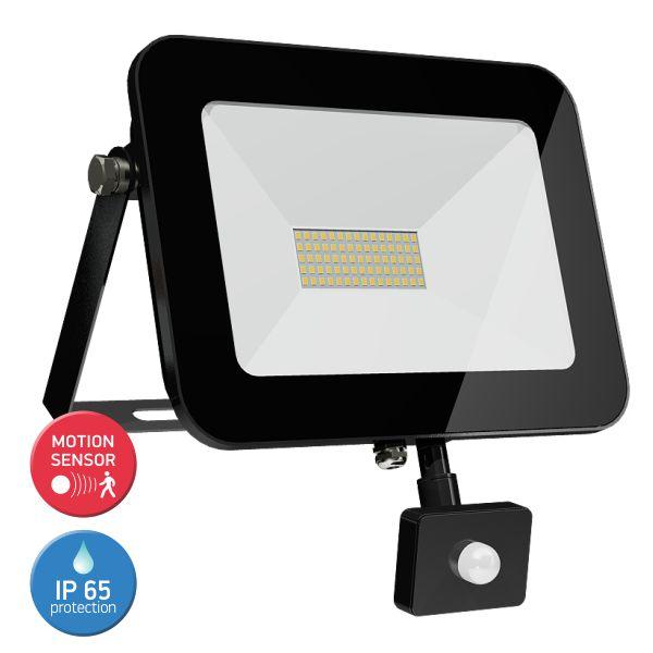 SL LED Προβολέας 50W Floodlight Tablet Λεπτός Motion Sensor IP65