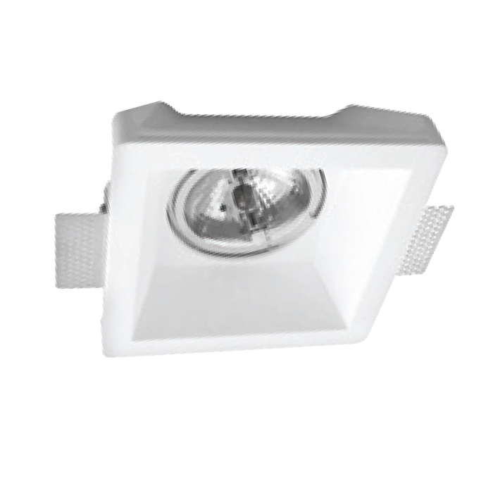 VK Γύψινο Spot Τετράγωνο Βαθύ Χωνευτό AR111 IP20 12V 20x7.5cm