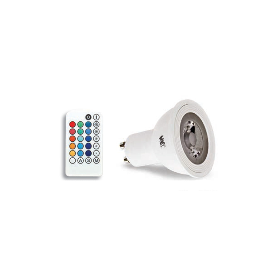 VK LED Spot 3W GU10 RGB Dimmable