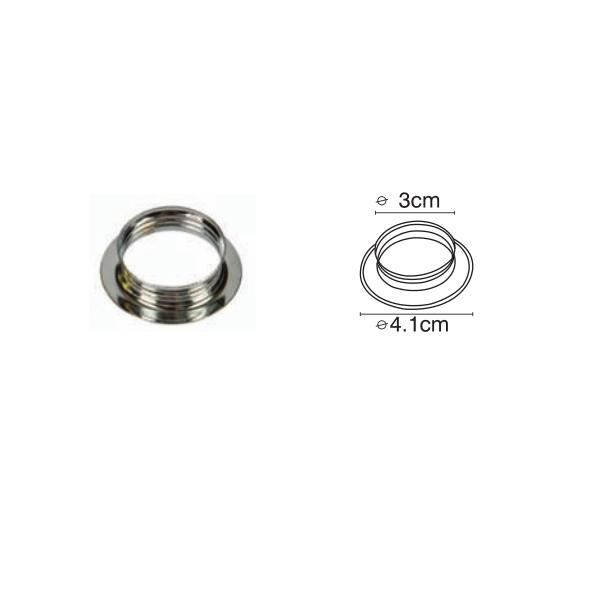 VK Μεταλλικό Δαχτυλίδι E14 με Βόλτες Chrome