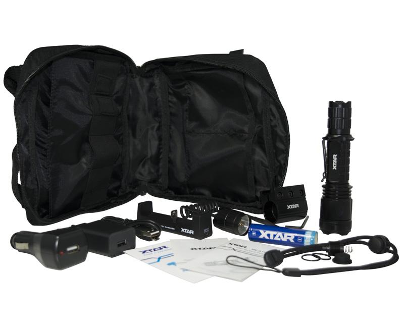Xtar LED Φακός Στρατιωτικός TZ20 840lm Tactical Flashlight Full Set